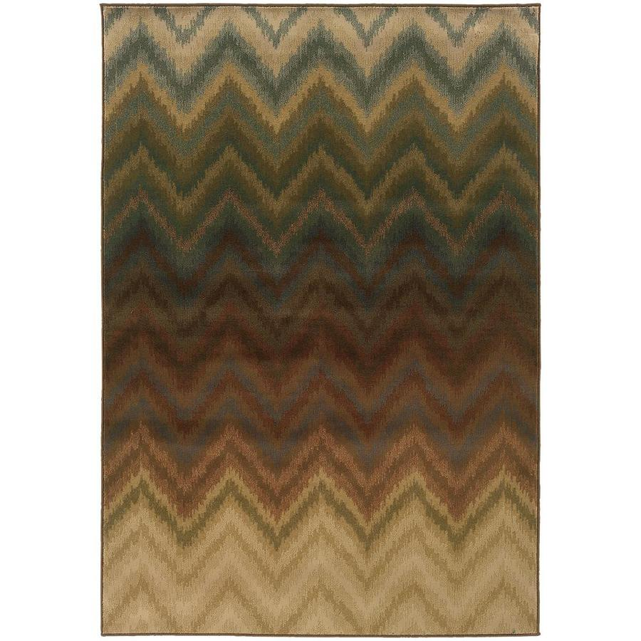 Archer Lane Sagamore Brown Indoor Area Rug (Common: 5 x 8; Actual: 5.25-ft W x 7.5-ft L)