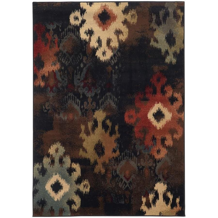Archer Lane Tadena Black Rectangular Indoor Machine-Made Area Rug (Common: 8 x 11; Actual: 7.67-ft W x 10.83-ft L)