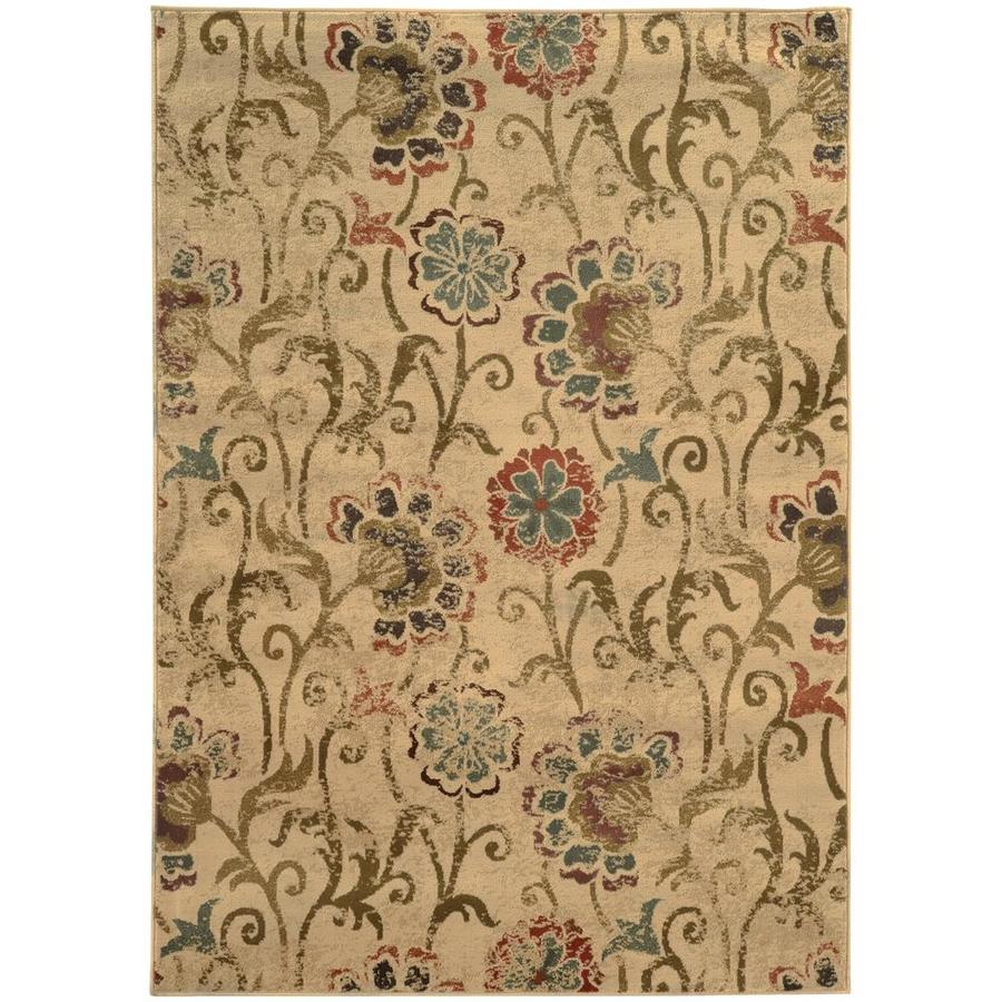 Archer Lane Umbra Ivory Rectangular Indoor Machine-Made Area Rug (Common: 5 x 8; Actual: 5.25-ft W x 7.5-ft L)