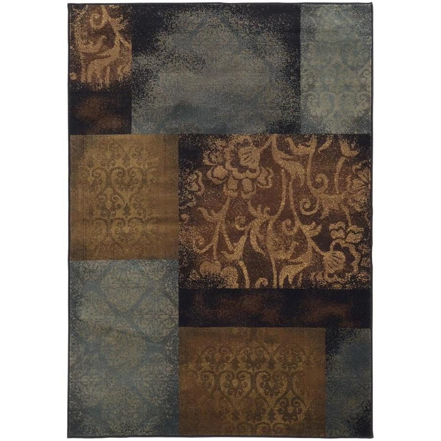 Archer Lane Valencia Blue Rectangular Indoor Machine-Made Area Rug (Common: 5 x 8; Actual: 5.25-ft W x 7.5-ft L)