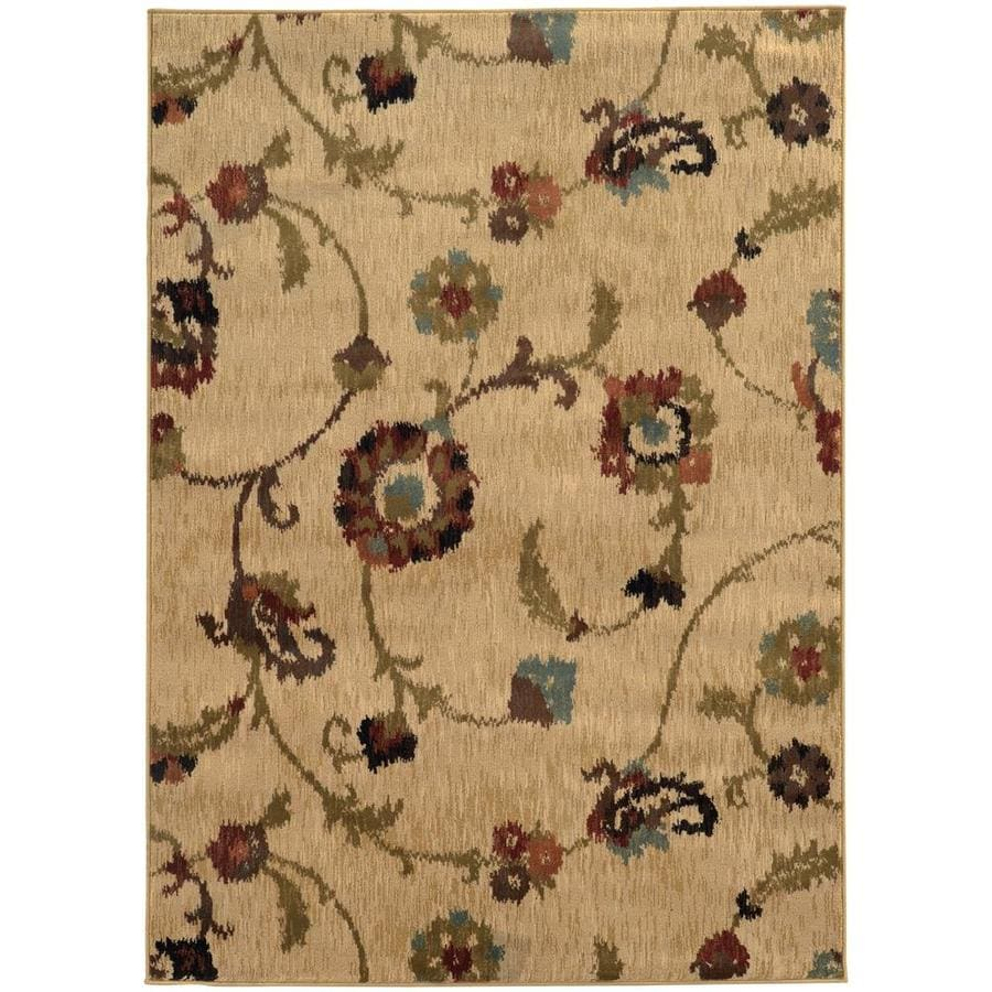Archer Lane Wadsbury Gold Rectangular Indoor Machine-Made Area Rug (Common: 8 x 11; Actual: 7.67-ft W x 10.83-ft L)
