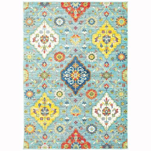 Archer Lane Ebbetts Blue Indoor Bohemian Eclectic Area Rug