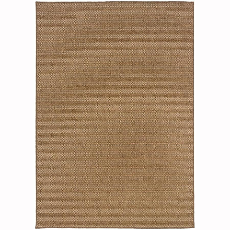 Archer Lane Academy Tan Rectangular Indoor/Outdoor Machine-Made Area Rug (Common: 7 x 10; Actual: 6.58-ft W x 9.5-ft L)