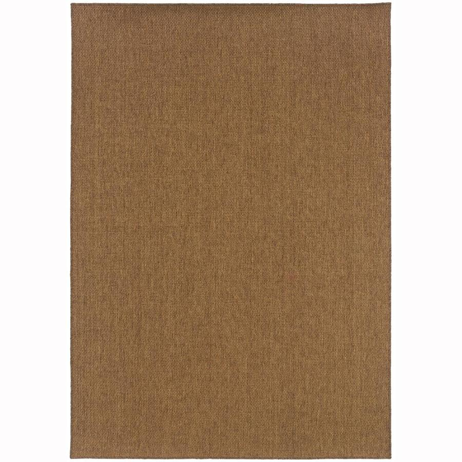 Archer Lane Calaway Tan Rectangular Indoor/Outdoor Machine-Made Area Rug (Common: 5 x 8; Actual: 5.25-ft W x 7.5-ft L)