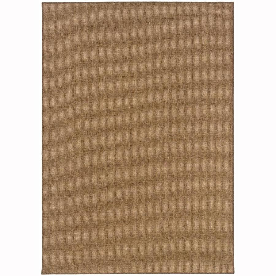 Archer Lane Eckerts Tan Rectangular Indoor/Outdoor Machine-Made Area Rug (Common: 5 x 8; Actual: 5.25-ft W x 7.5-ft L)