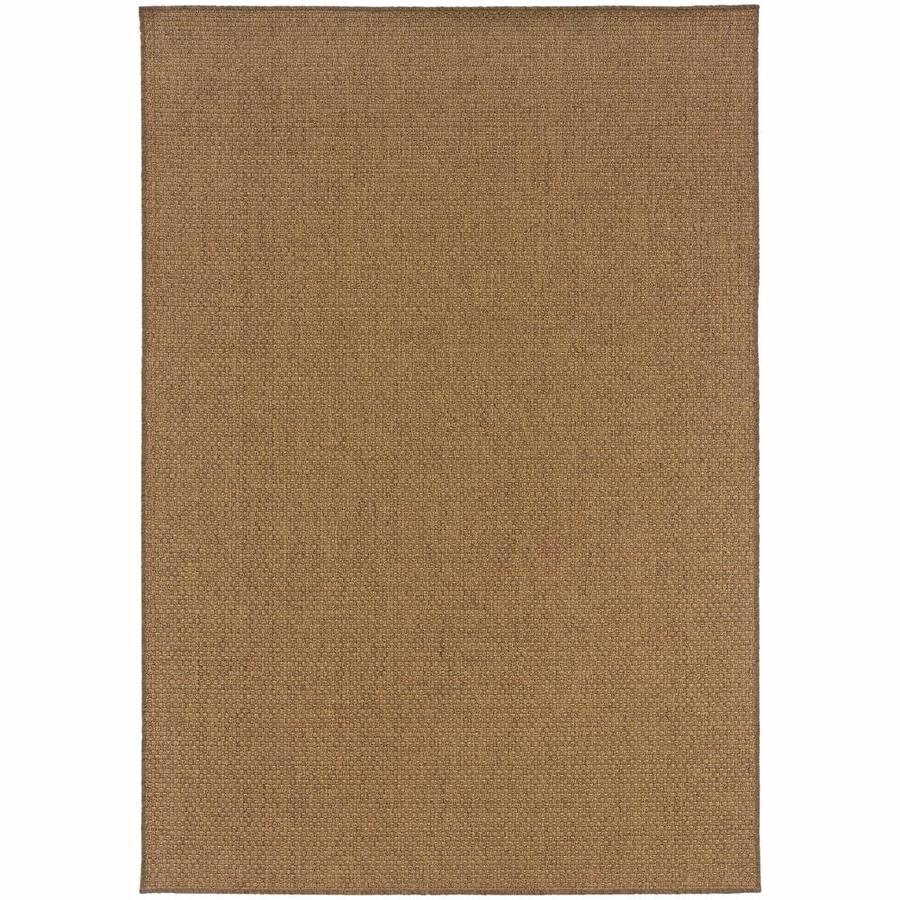 Archer Lane Gannon Tan Rectangular Indoor/Outdoor Machine-Made Area Rug (Common: 9 x 13; Actual: 8.5-ft W x 13-ft L)