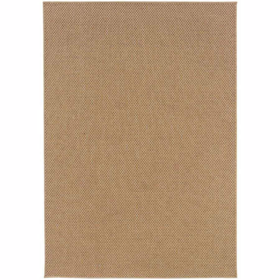 Archer Lane Gannon Sand Rectangular Indoor/Outdoor Machine-Made Area Rug (Common: 8 x 11; Actual: 7.83-ft W x 10.83-ft L)