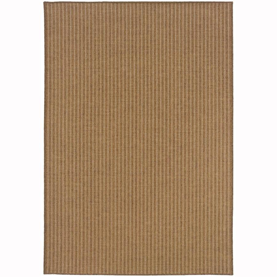 Archer Lane Halberton Tan Rectangular Indoor/Outdoor Machine-Made Area Rug (Common: 5 X 8; Actual: 5.25-ft W x 7.5-ft L)