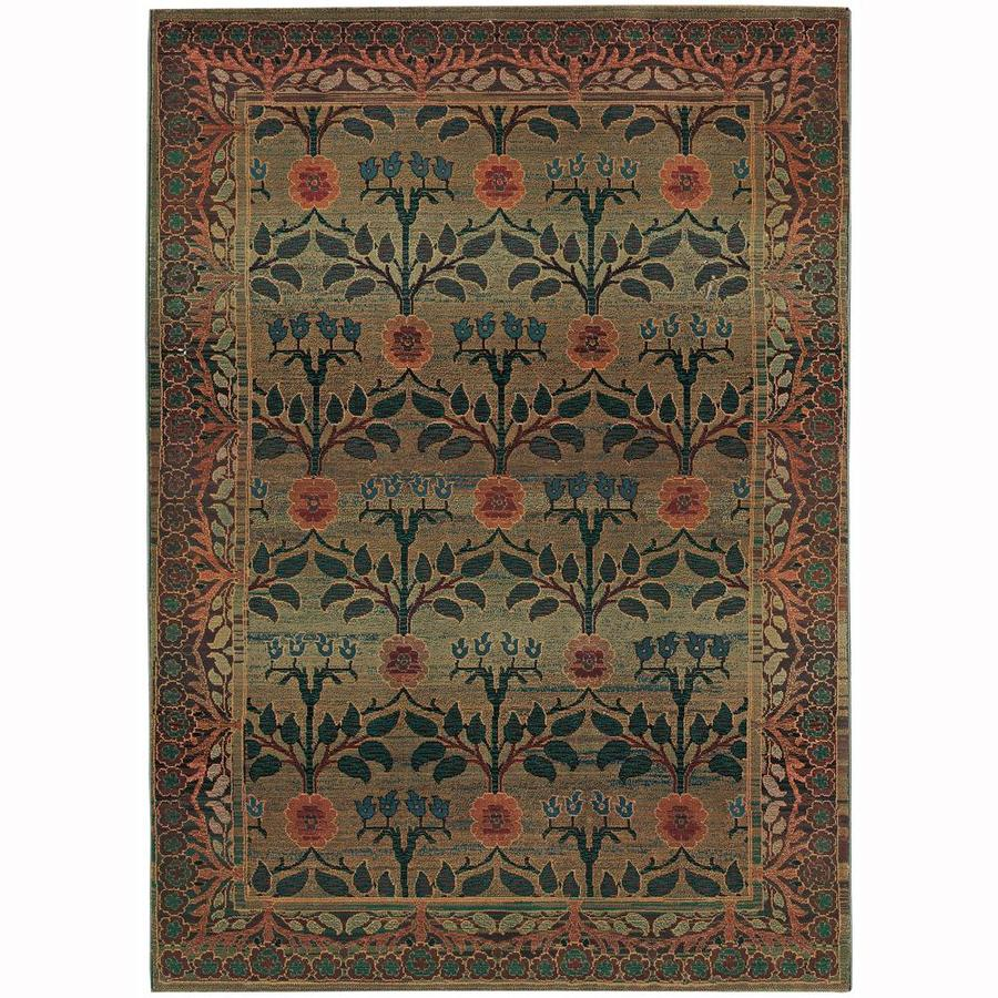 shop archer lane daphne green indoor area rug common 10 x 12 actual w x l. Black Bedroom Furniture Sets. Home Design Ideas