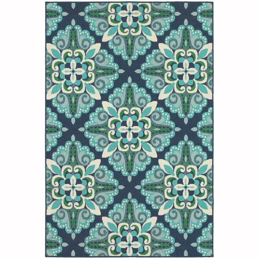 Archer Lane Edgewater Blue Indoor/Outdoor Area Rug (Common: 9 x 13; Actual: 8.5-ft W x 13-ft L)