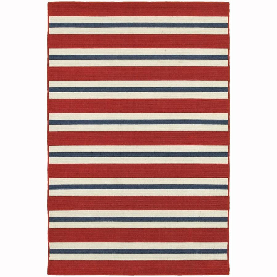 Archer Lane Garlington Red Rectangular Indoor/Outdoor Machine-Made Area Rug (Common: 9 x 13; Actual: 8.5-ft W x 13-ft L)