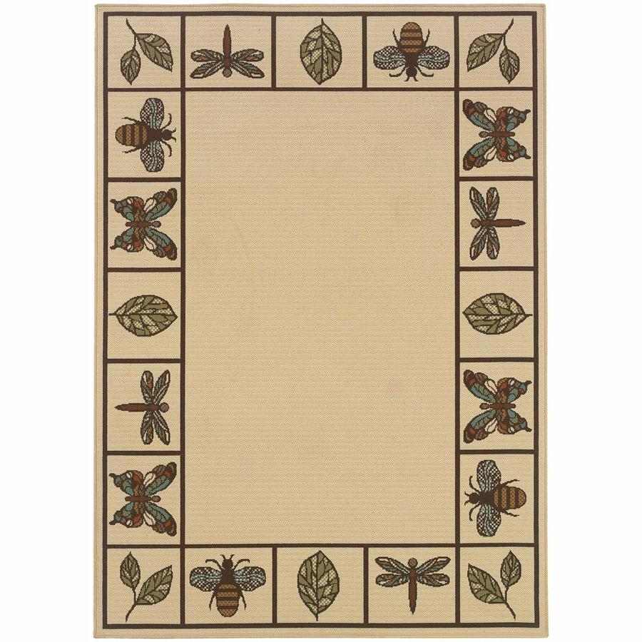 Archer Lane Ackerman Ivory Indoor/Outdoor Area Rug (Common: 5 x 8; Actual: 5.25-ft W x 7.5-ft L)
