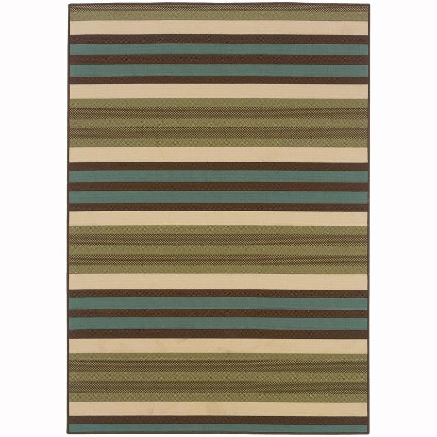 Archer Lane Hallard Green Indoor/Outdoor Area Rug (Common: 4 x 6; Actual: 3.58-ft W x 5.5-ft L)