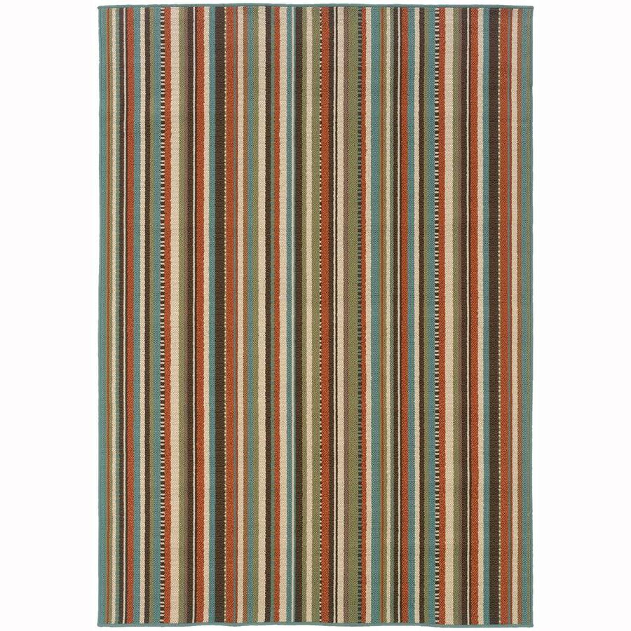 Archer Lane Jefferson Green Rectangular Indoor/Outdoor Machine-Made Area Rug (Common: 8 x 11; Actual: 7.83-ft W x 10.83-ft L)
