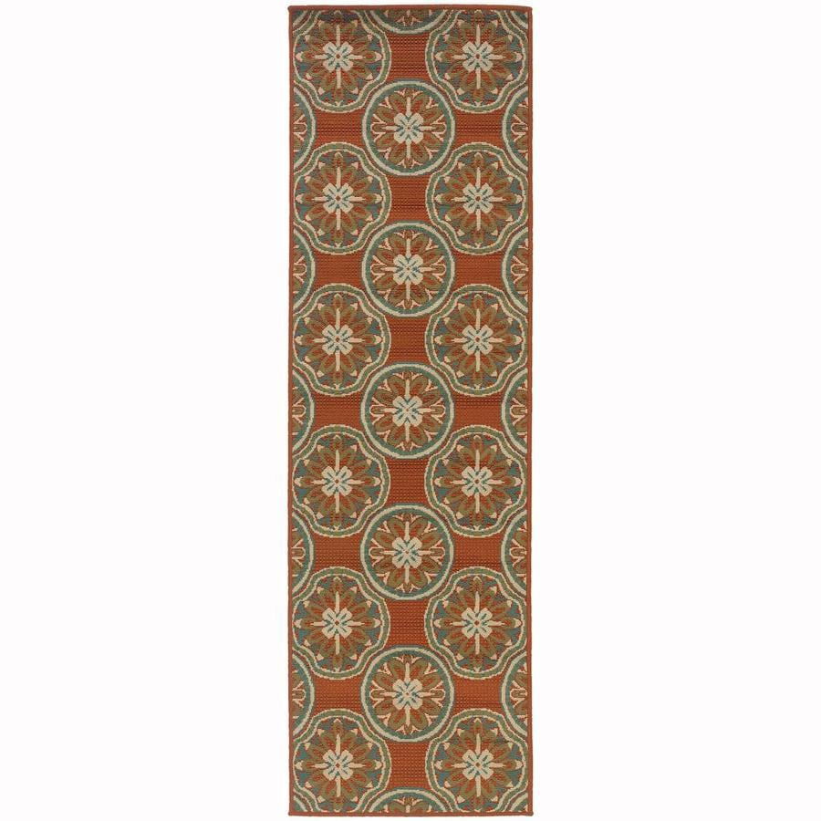 Archer Lane Keeler Rust Indoor/Outdoor Runner (Common: 2 x 8; Actual: 2.25-ft W x 7.5-ft L)