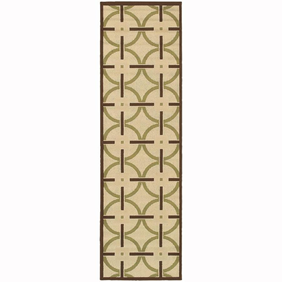 Archer Lane Lamar Ivory Rectangular Indoor/Outdoor Machine-Made Runner (Common: 2 x 8; Actual: 2.25-ft W x 7.5-ft L)
