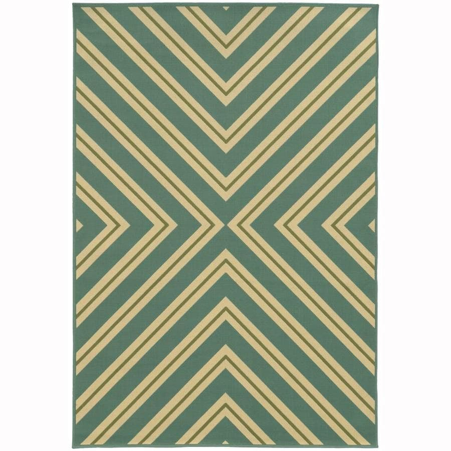 Archer Lane Addington Moss Rectangular Indoor/Outdoor Machine-Made Area Rug (Common: 4 x 6; Actual: 3.58-ft W x 5.5-ft L)