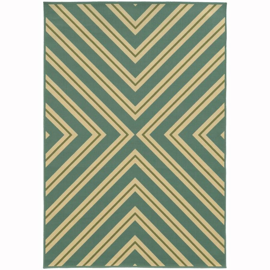Archer Lane Addington Moss Rectangular Indoor/Outdoor Machine-Made Area Rug (Common: 5 x 8; Actual: 5.25-ft W x 7.5-ft L)