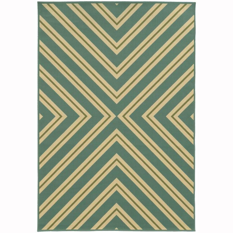Archer Lane Addington Moss Rectangular Indoor/Outdoor Machine-Made Area Rug (Common: 6 x 9; Actual: 6.58-ft W x 9.5-ft L)