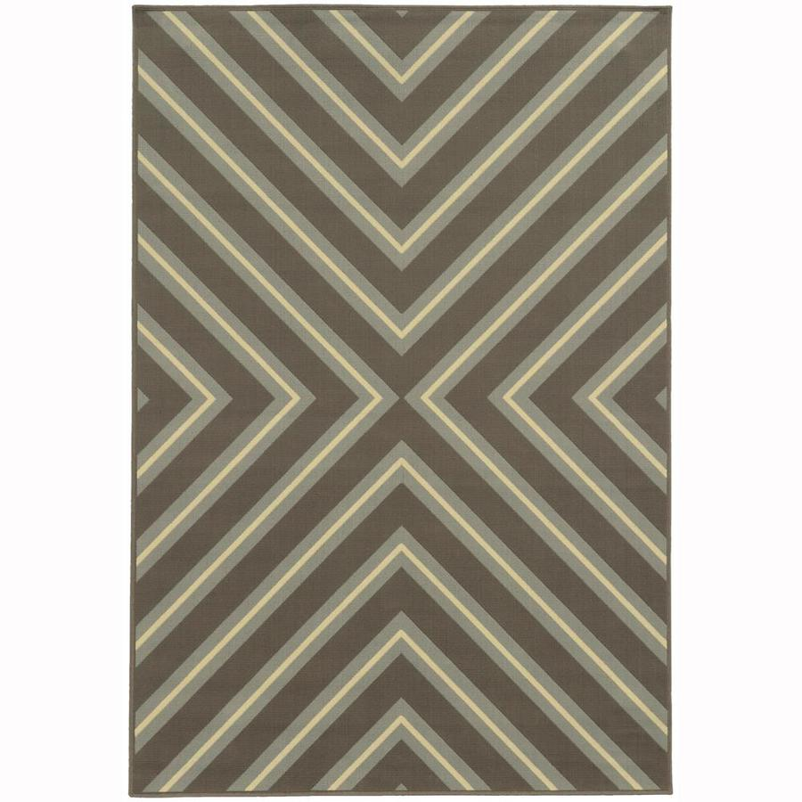 Archer Lane Addington Slate Indoor/Outdoor Area Rug (Common: 4 x 6; Actual: 3.58-ft W x 5.5-ft L)