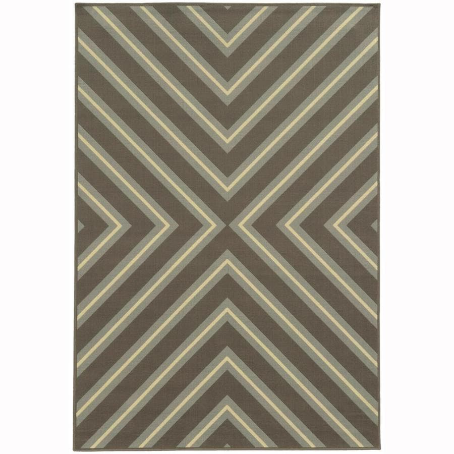 Archer Lane Addington Slate Rectangular Indoor/Outdoor Machine-Made Area Rug (Common: 6 x 9; Actual: 6.58-ft W x 9.5-ft L)