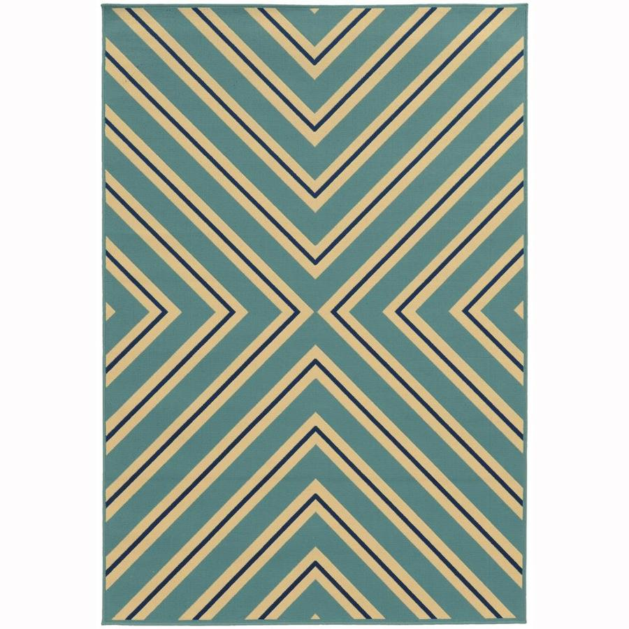 Archer Lane Addington Sky Rectangular Indoor/Outdoor Machine-Made Area Rug (Common: 9 x 13; Actual: 8.5-ft W x 13-ft L)