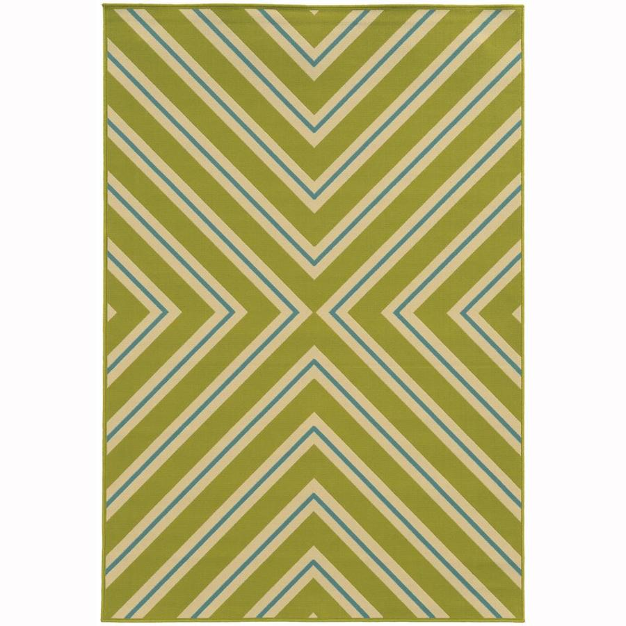 Archer Lane Addington Lime Rectangular Indoor/Outdoor Machine-Made Area Rug (Common: 4 x 6; Actual: 3.58-ft W x 5.5-ft L)