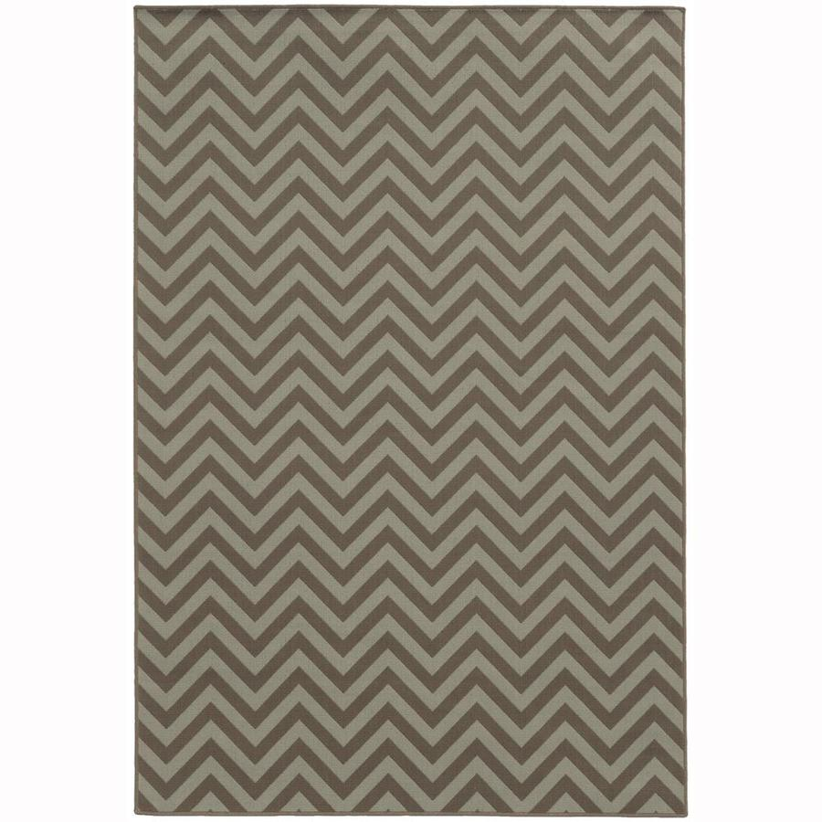 Archer Lane Bancroft Slate Rectangular Indoor/Outdoor Machine-Made Area Rug (Common: 4 x 6; Actual: 3.58-ft W x 5.5-ft L)