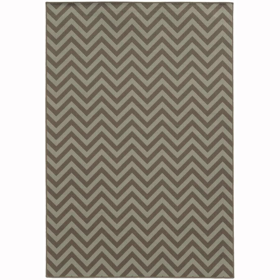 Archer Lane Bancroft Slate Rectangular Indoor/Outdoor Machine-Made Area Rug (Common: 9 x 13; Actual: 8.5-ft W x 13-ft L)