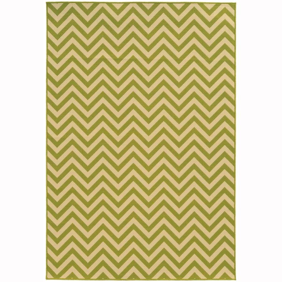 Archer Lane Bancroft Lime Indoor/Outdoor Area Rug (Common: 4 x 6; Actual: 3.58-ft W x 5.5-ft L)