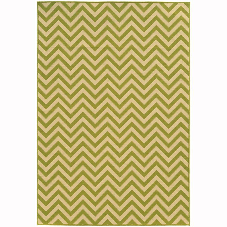Archer Lane Bancroft Lime Rectangular Indoor/Outdoor Machine-Made Area Rug (Common: 8 x 10; Actual: 7.83-ft W x 10.83-ft L)