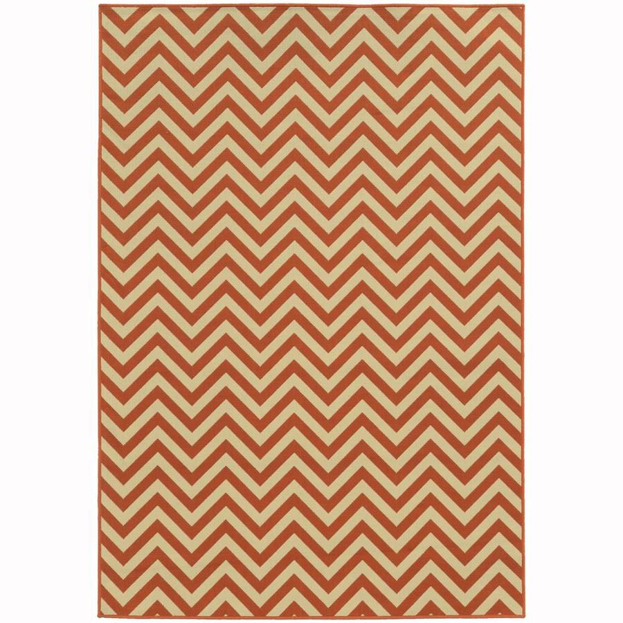 Archer Lane Bancroft Tuscan Rectangular Indoor/Outdoor Machine-Made Area Rug (Common: 8 x 10; Actual: 7.83-ft W x 10.83-ft L)