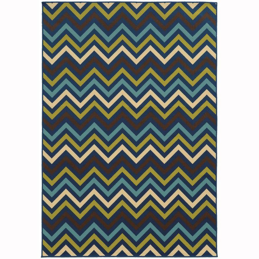 Archer Lane Bancroft Persian Rectangular Indoor/Outdoor Machine-Made Area Rug (Common: 7 x 10; Actual: 6.58-ft W x 9.5-ft L)