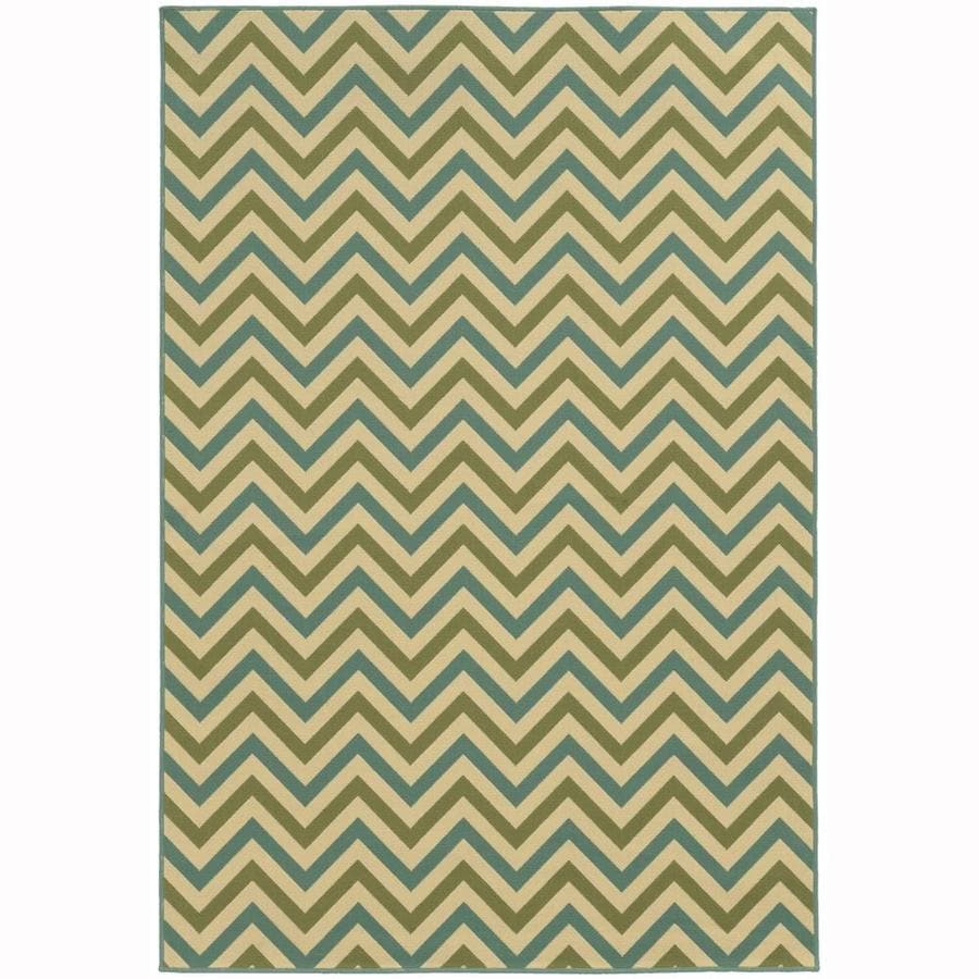 Archer Lane Bancroft Moss Rectangular Indoor/Outdoor Machine-Made Area Rug (Common: 5 x 8; Actual: 5.25-ft W x 7.5-ft L)