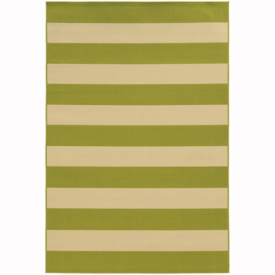 Archer Lane Callan Lime Rectangular Indoor/Outdoor Machine-Made Area Rug (Common: 4 x 6; Actual: 3.58-ft W x 5.5-ft L)