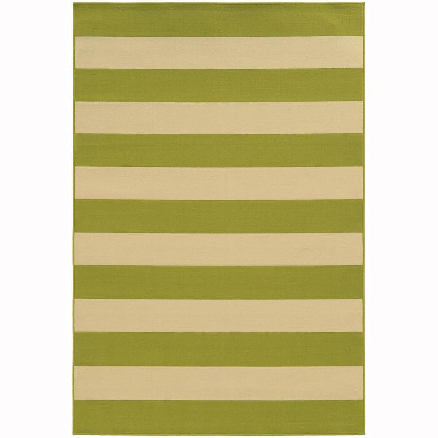Archer Lane Callan Lime Rectangular Indoor/Outdoor Machine-Made Area Rug (Common: 5 X 8; Actual: 5.25-ft W x 7.5-ft L)