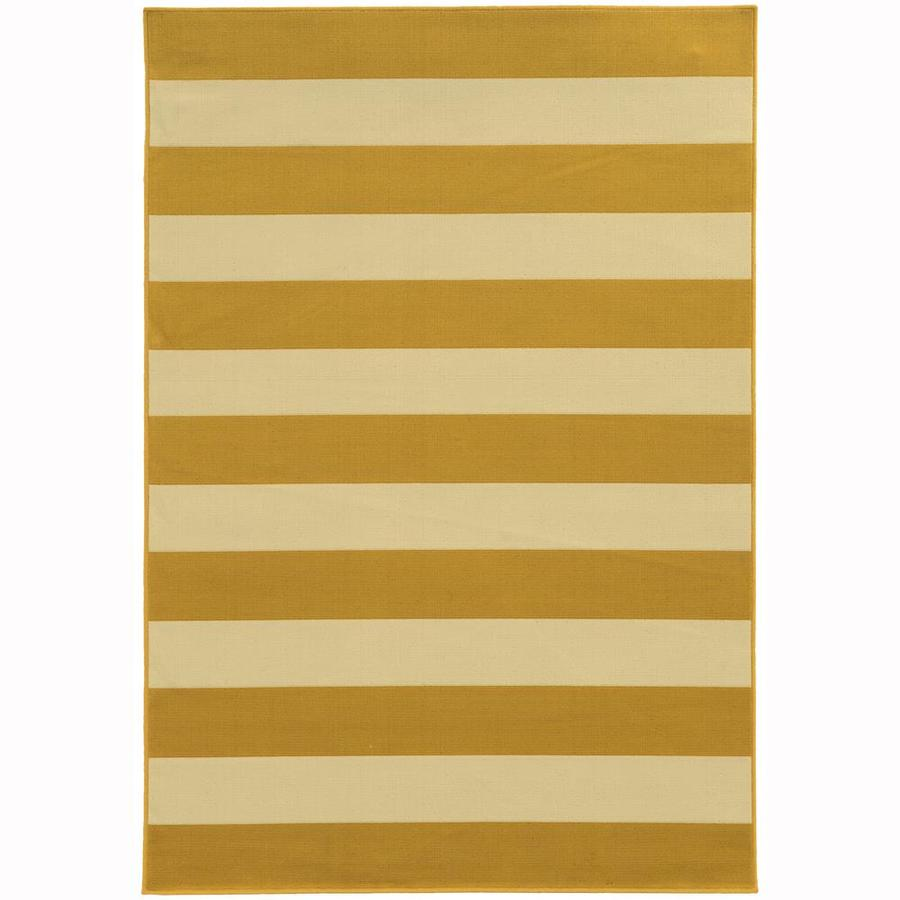 Archer Lane Callan Gold Indoor/Outdoor Area Rug (Common: 5 x 8; Actual: 5.25-ft W x 7.5-ft L)