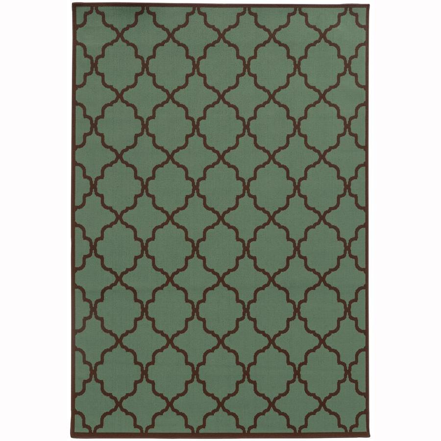 Archer Lane Dartmouth Seaglass Indoor/Outdoor Area Rug (Common: 5 x 8; Actual: 5.25-ft W x 7.5-ft L)