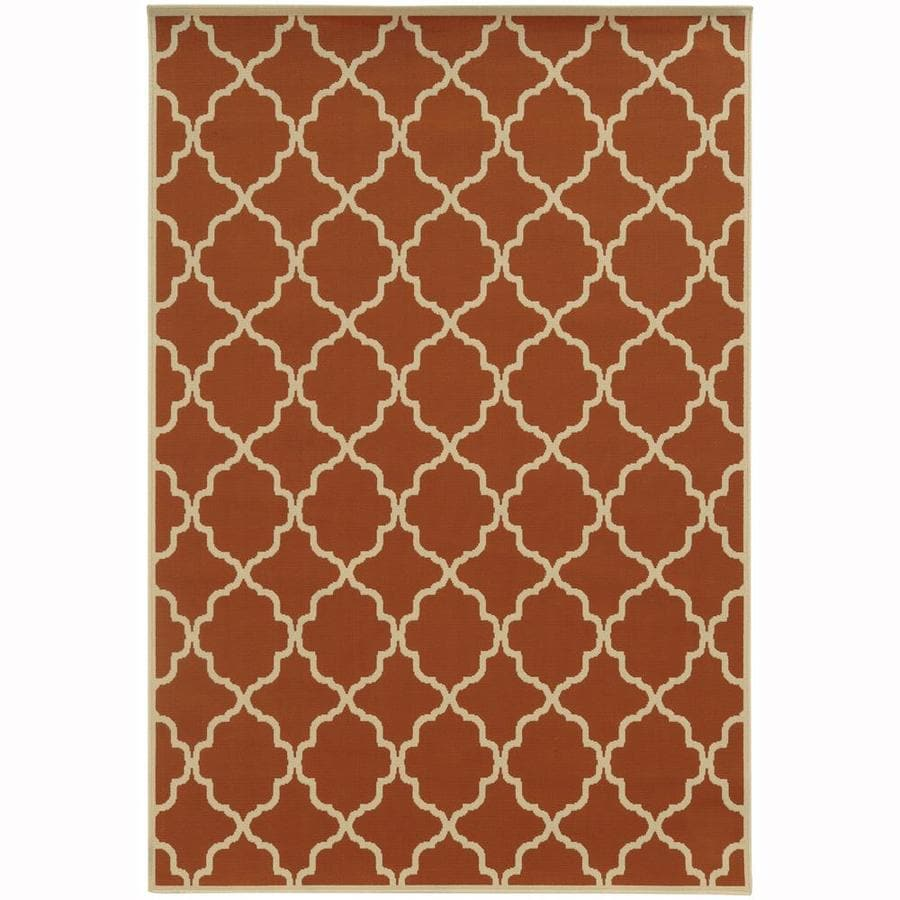 Archer Lane Dartmouth Tuscan Rectangular Indoor/Outdoor Machine-Made Area Rug (Common: 9 x 13; Actual: 8.5-ft W x 13-ft L)