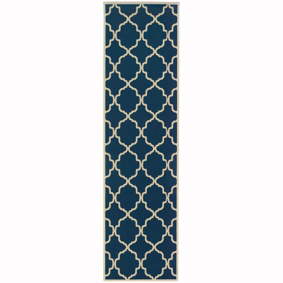 Archer Lane Dartmouth Persian Rectangular Indoor/Outdoor Machine-Made Runner (Common: 2 x 8; Actual: 2.25-ft W x 7.5-ft L)