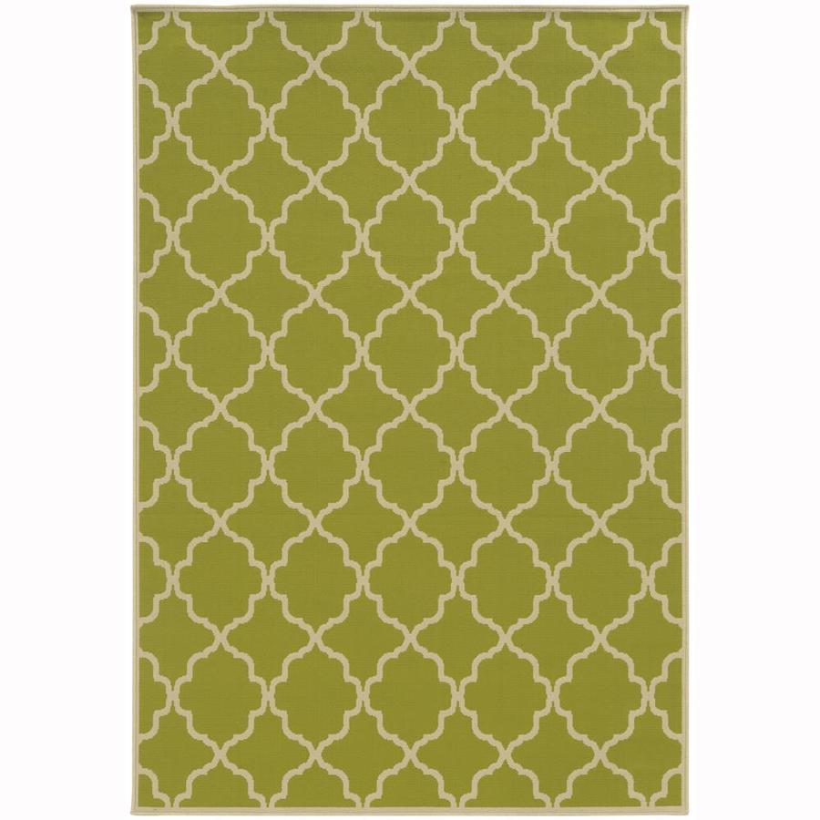 Archer Lane Dartmouth Lime Indoor/Outdoor Area Rug (Common: 9 x 13; Actual: 8.5-ft W x 13-ft L)