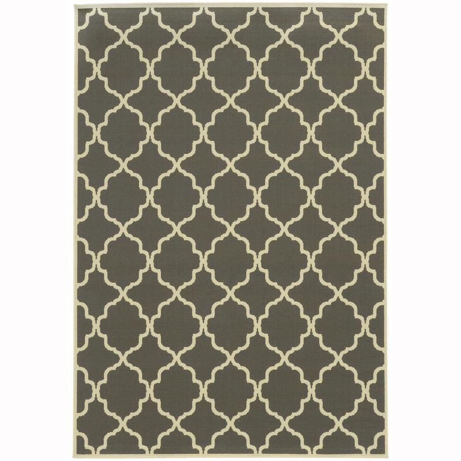 Archer Lane Dartmouth Slate Rectangular Indoor/Outdoor Machine-Made Area Rug (Common: 4 x 6; Actual: 3.58-ft W x 5.5-ft L)