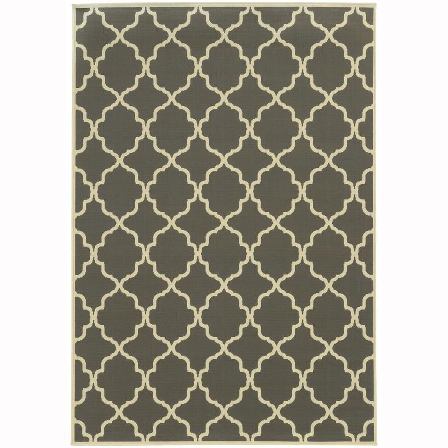 Archer Lane Dartmouth Slate Indoor/Outdoor Area Rug (Common: 8 x 11; Actual: 7.83-ft W x 10.83-ft L)