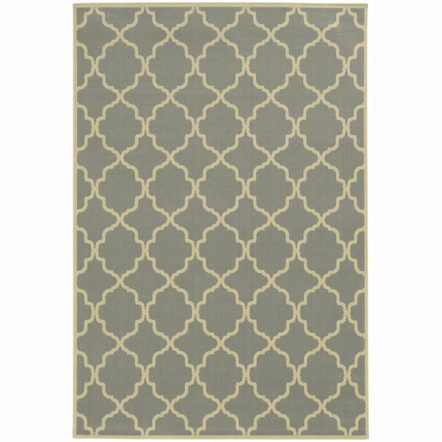Archer Lane Dartmouth Steel Rectangular Indoor/Outdoor Machine-Made Area Rug (Common: 4 x 6; Actual: 3.58-ft W x 5.5-ft L)