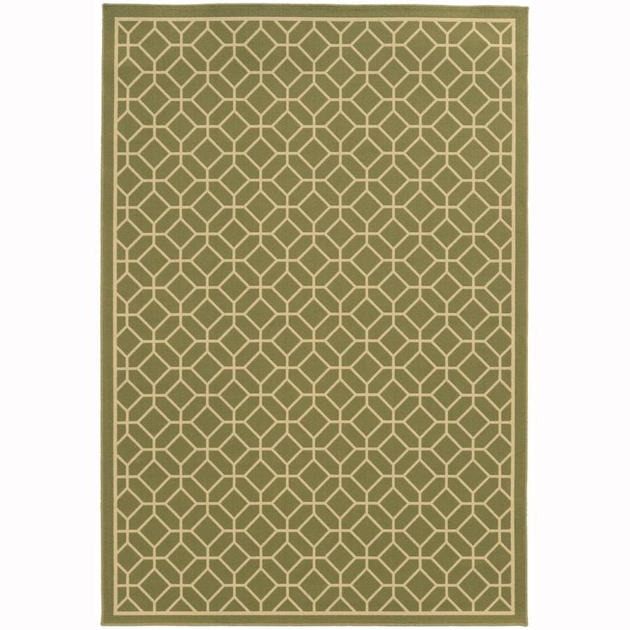 Archer Lane Elderberry Moss Rectangular Indoor/Outdoor Machine-Made Area Rug (Common: 5 x 8; Actual: 5.25-ft W x 7.5-ft L)