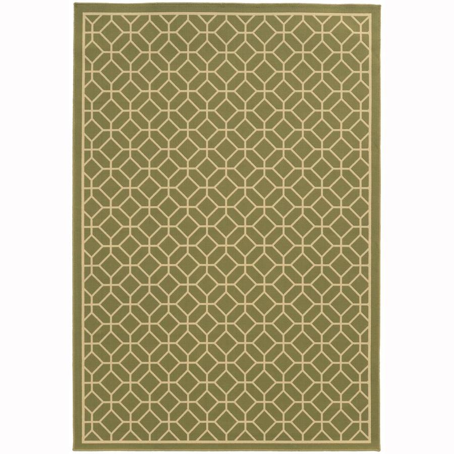 Archer Lane Elderberry Moss Indoor/Outdoor Area Rug (Common: 7 x 10; Actual: 6.58-ft W x 9.5-ft L)