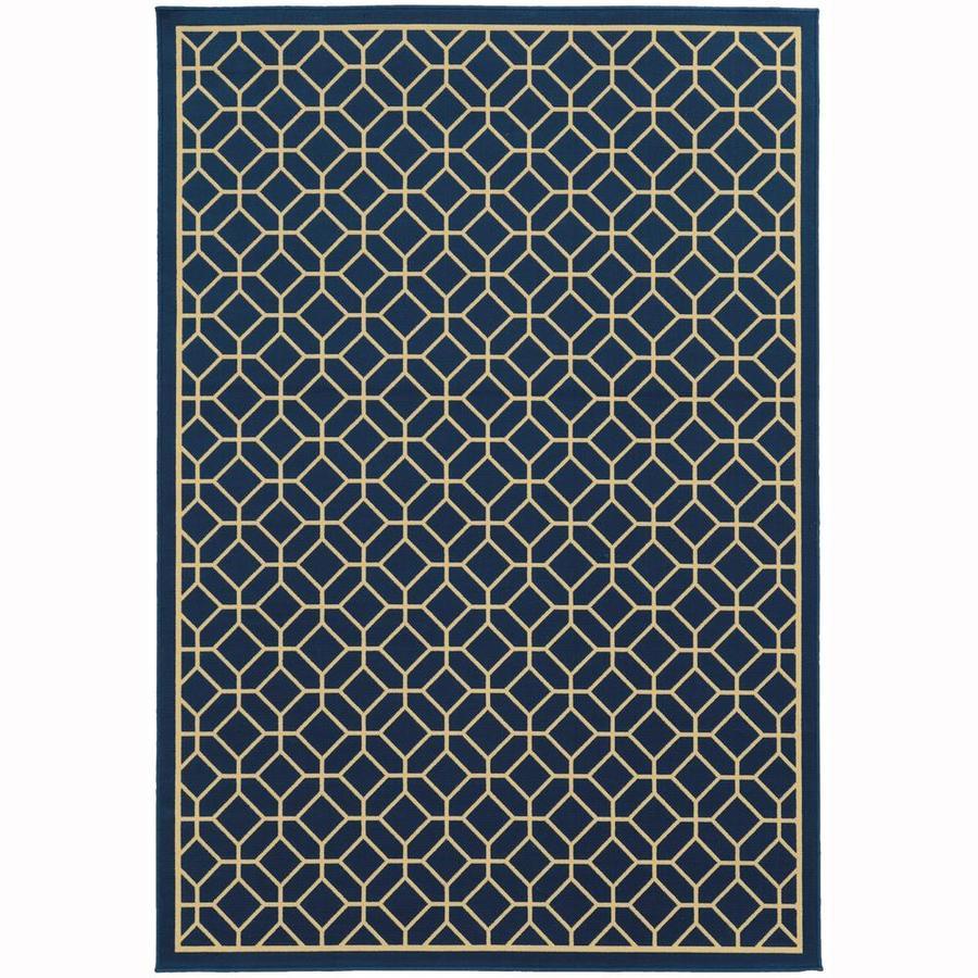 Archer Lane Elderberry Persian Rectangular Indoor/Outdoor Machine-Made Area Rug (Common: 6 x 9; Actual: 6.58-ft W x 9.5-ft L)
