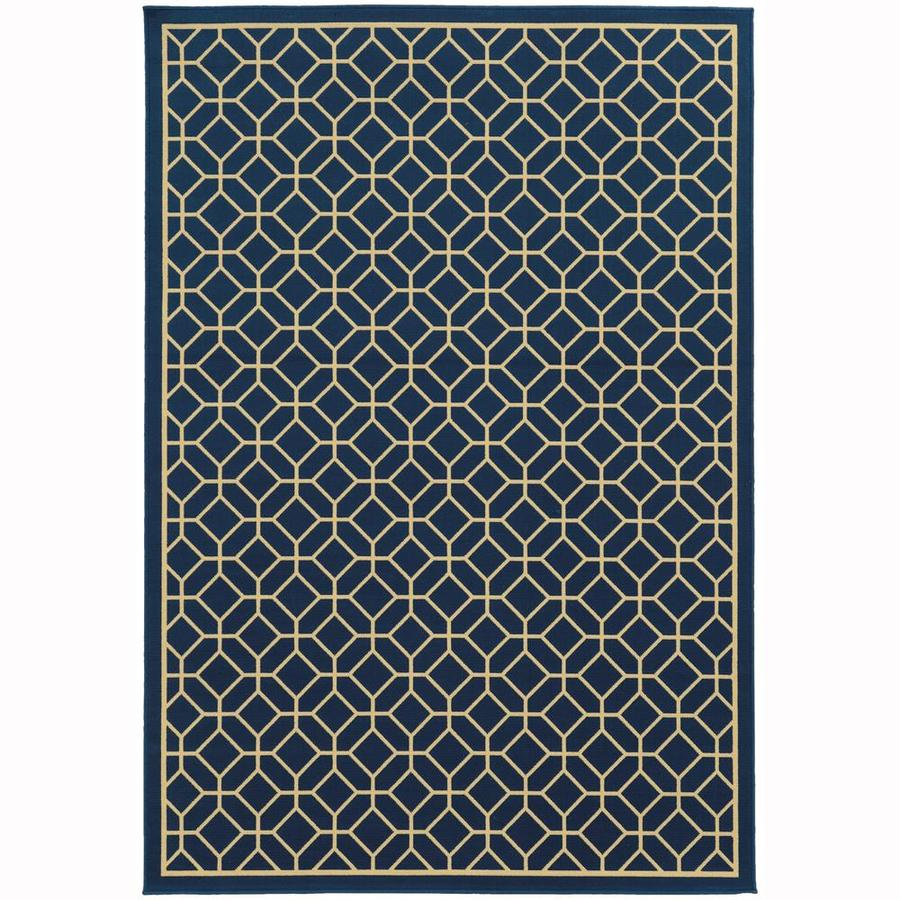 Archer Lane Elderberry Persian Rectangular Indoor/Outdoor Area Rug (Common: 8 x 10; Actual: 7.83-ft W x 10.83-ft L)