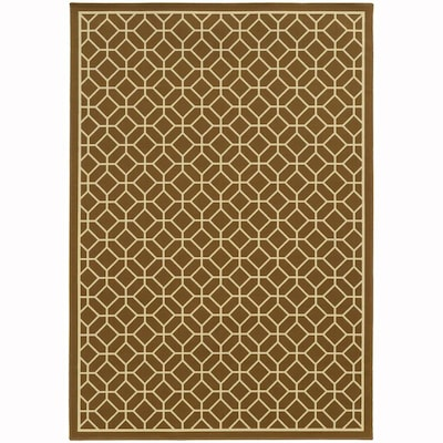 Archer Lane Elderberry Brown Indoor Outdoor Area Rug Common