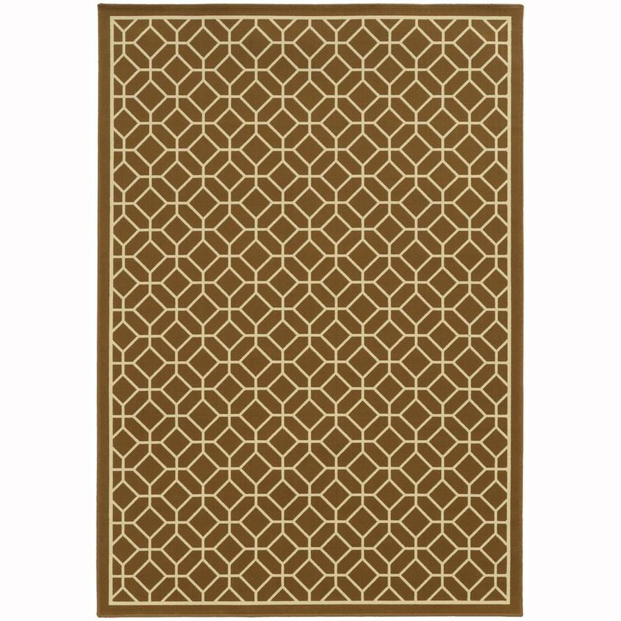 Archer Lane Elderberry Brown Rectangular Indoor/Outdoor Machine-Made Area Rug (Common: 9 x 13; Actual: 8.5-ft W x 13-ft L)